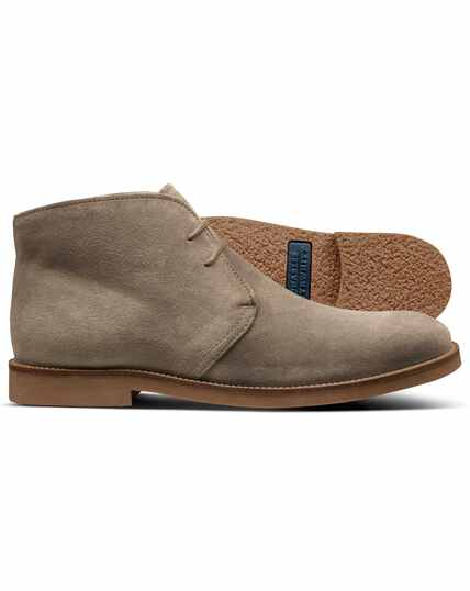 Stone suede desert boot