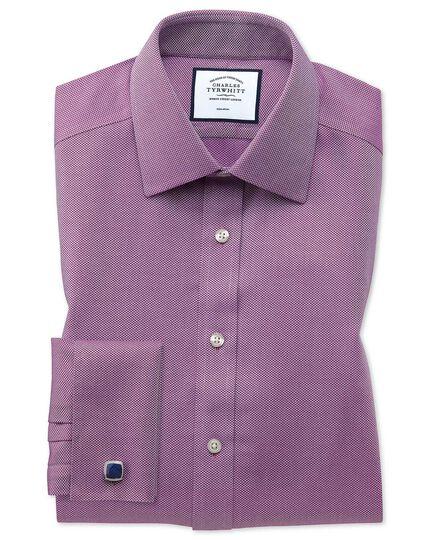 Bügelfreies Extra Slim Fit Arrowweave-Hemd in Beerenrot