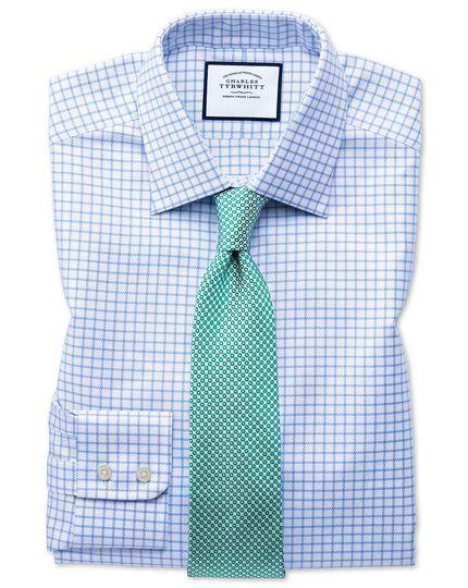 Slim fit Egyptian cotton royal Oxford sky blue check shirt