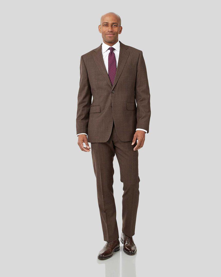 Semi-Plain Suit - Brown