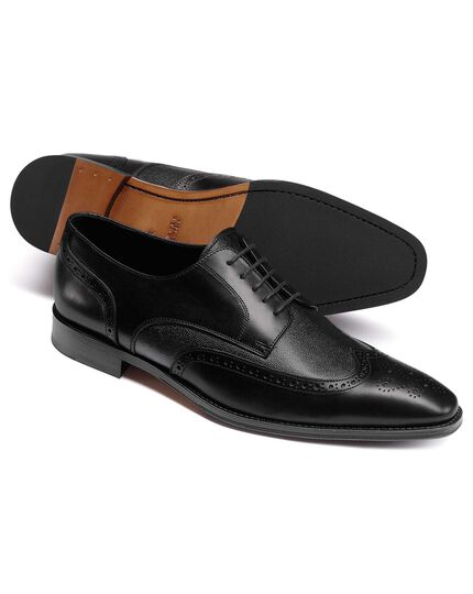 Black Derby brogue shoes