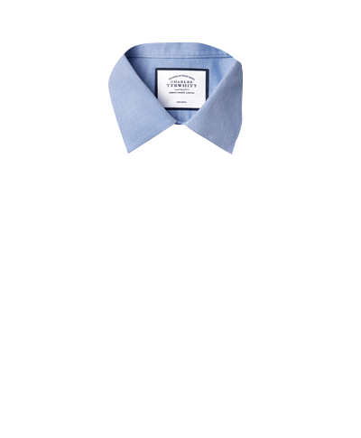 Classic Collar Non-Iron Micro Diamond Shirt - Blue