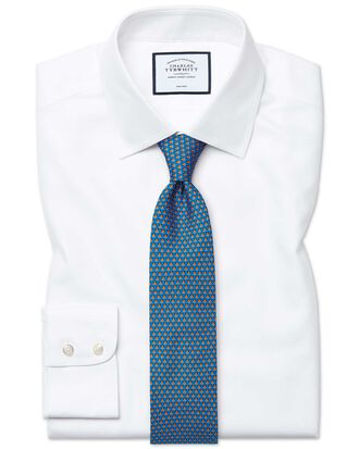 Chemise blanche en royal panama slim fit sans repassage