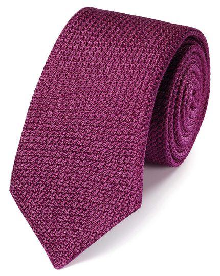 Pink silk grenadine Italian luxury tie