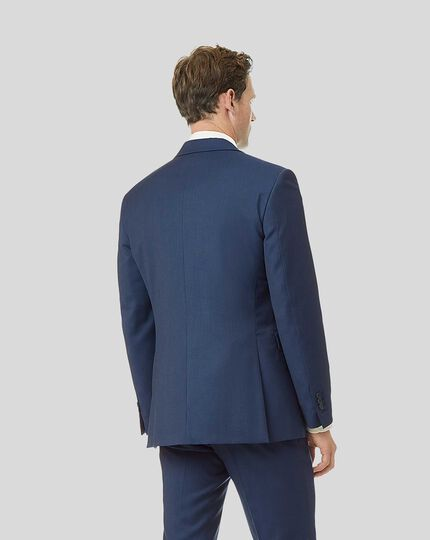 Twill Business Suit Jacket - French Blue