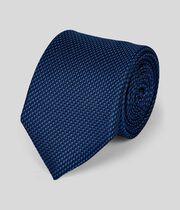 Klassische Krawatte aus Seide - Dunkelblau