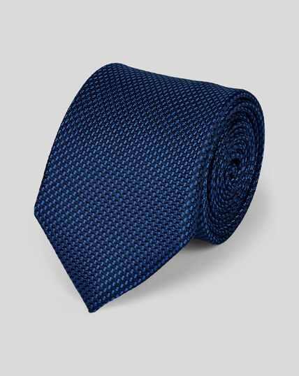Silk Classic Spot Tie - Dark Blue