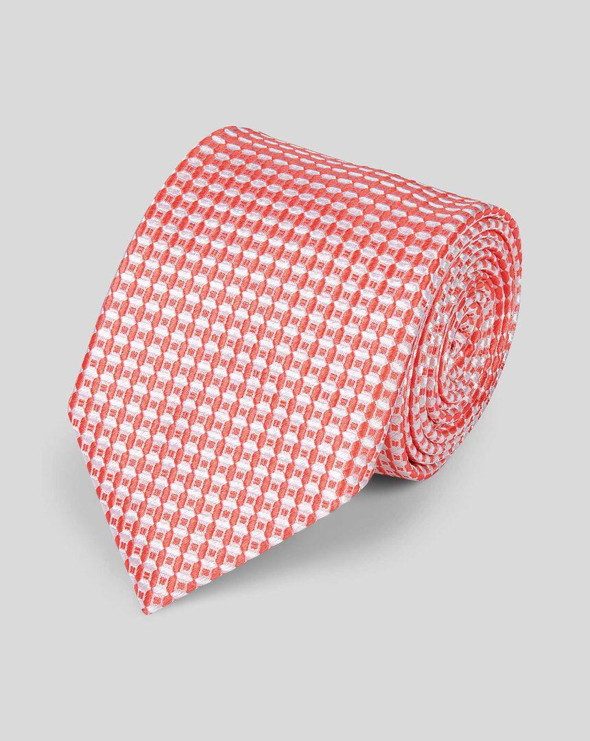 Silk Classic Tie - Coral