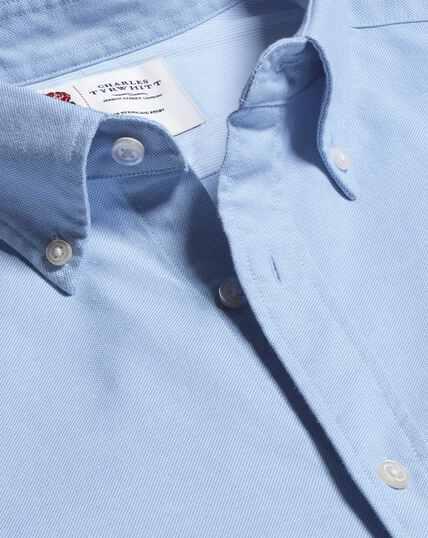 Vorgewaschenes England Rugby Oxfordhemd mit Button-down-Kragen - Himmelblau