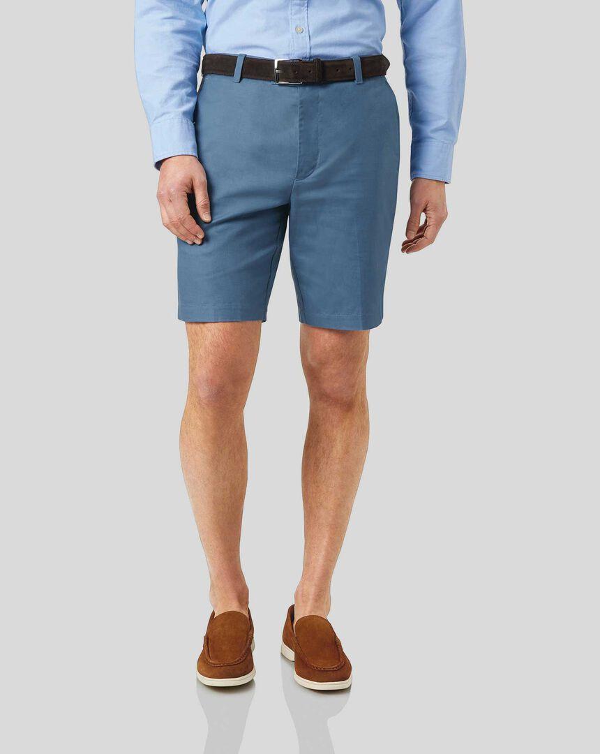 Linen Cotton Shorts - Blue