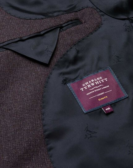 Aubergine slim fit Italian suit jacket