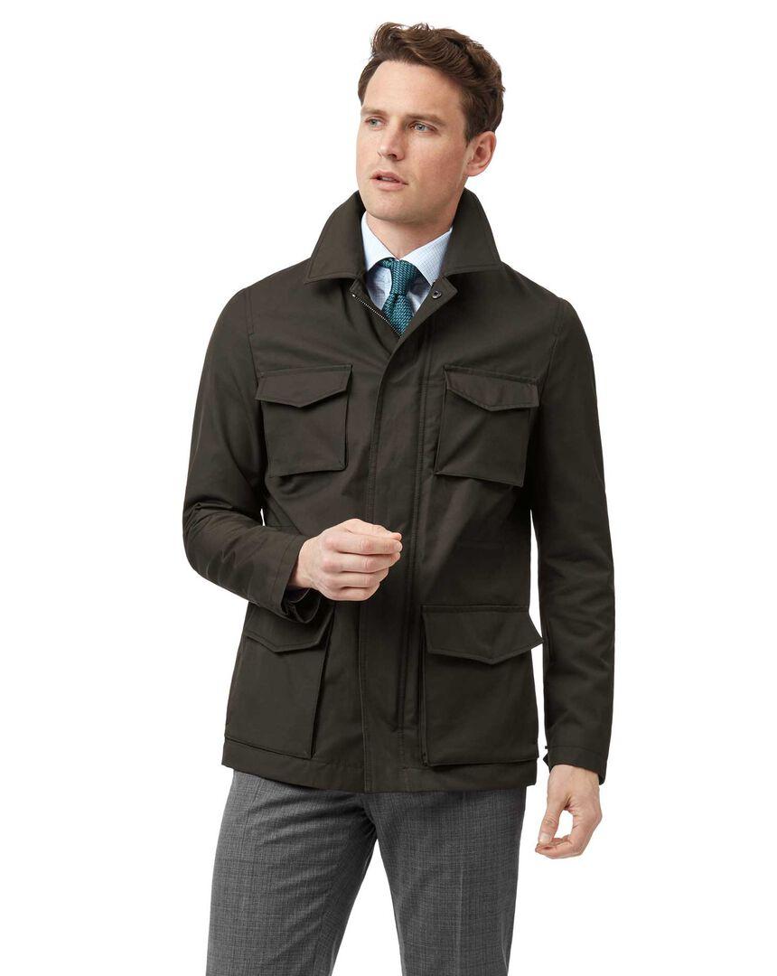 Dark Brown showerproof four pocket jacket