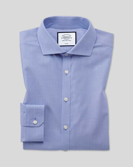 Cutaway Collar Non-Iron 4 Way Stretch Shirt - Blue