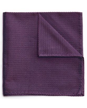 Purple classic plain pocket square