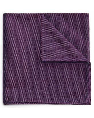 Purple classic plain pocket square