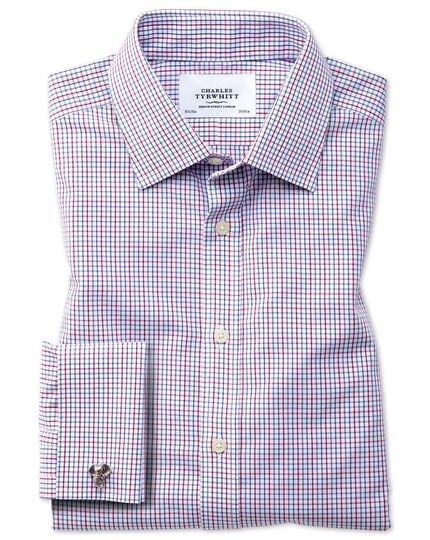 Classic fit non-iron grid check multi shirt