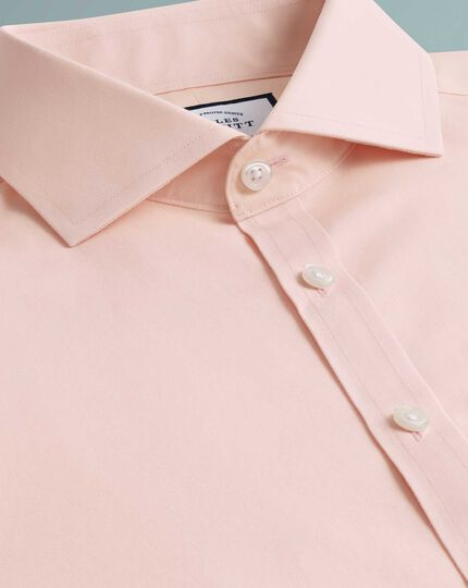 Super slim fit non-iron Tyrwhitt Cool poplin peach shirt