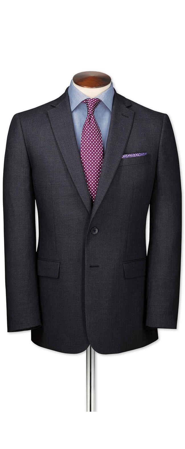 Charcoal slim fit business suit