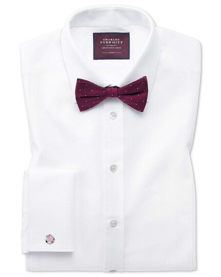 Slim fit luxury Marcella bib front white evening shirt