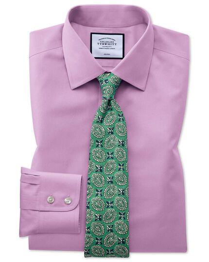 Classic fit violet non-iron poplin shirt