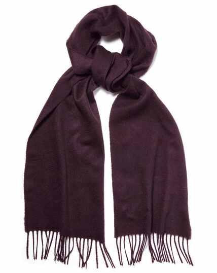 Dark purple cashmere scarf