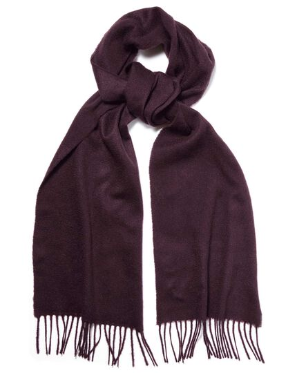 Dark purple cashmere scarf