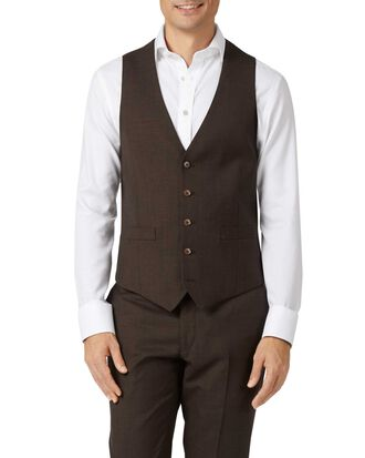 Chocolate adjustable fit sharkskin travel suit vest