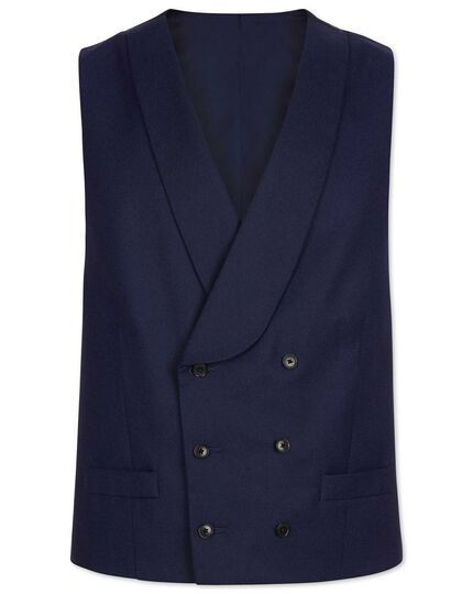 Blue adjustable fit British luxury suit vest