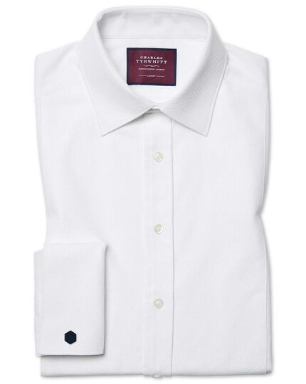 Classic fit luxury marcella bib front white evening shirt