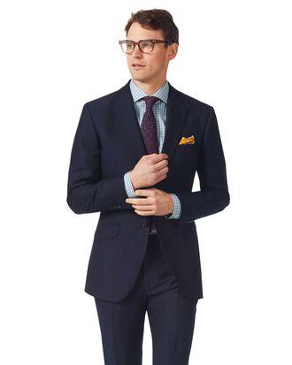 Veste de costume bleu marine en tissu italien texturé slim fit
