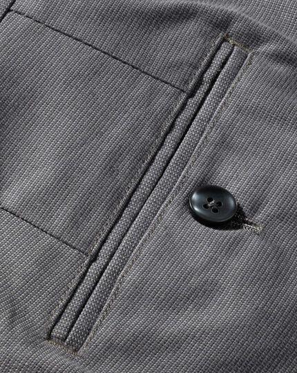 Slim Fit Pin-Dot Hose in Grau