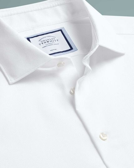 Extra slim fit non-iron natural stretch white shirt