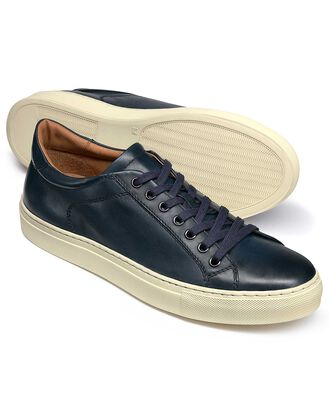 Navy Tutwell plain sneakers