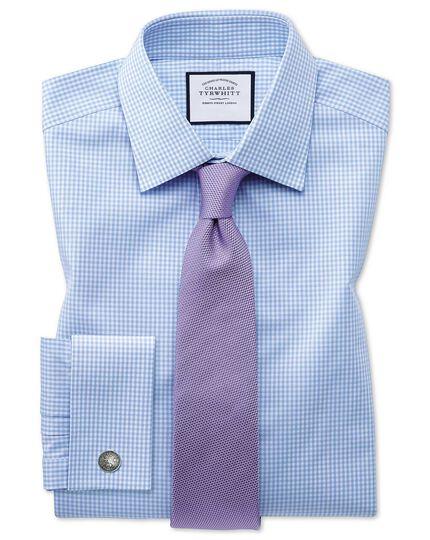 Violet silk plain classic tie