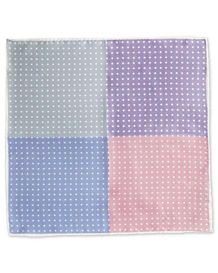 Einstecktuch mit Quadraten und Punktdesign in Pastell