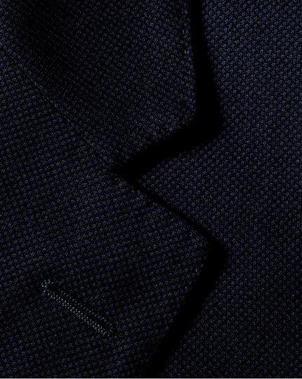 Ink blue slim fit birdseye travel suit jacket