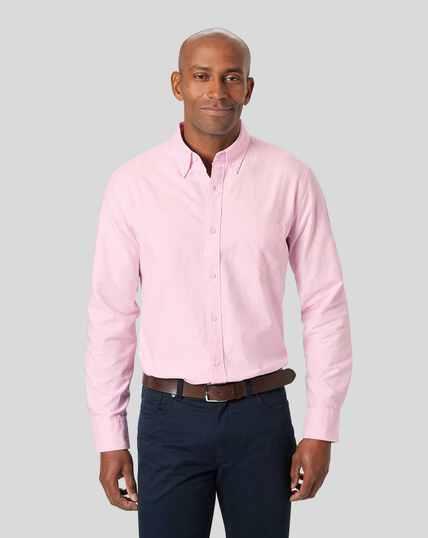 Oxford Hemd mit Button-down-Kragen - Rosa