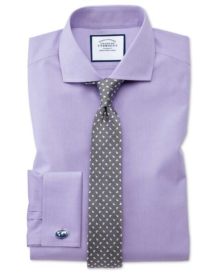 Grey silk linen slim paisley classic tie