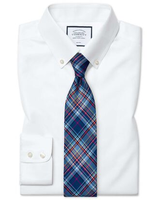 Classic fit white button-down collar non-iron twill shirt