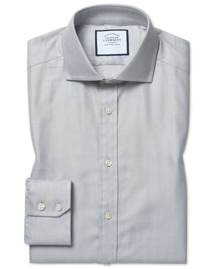 Extra slim fit cutaway cotton stretch with TENCEL™ grey shirt