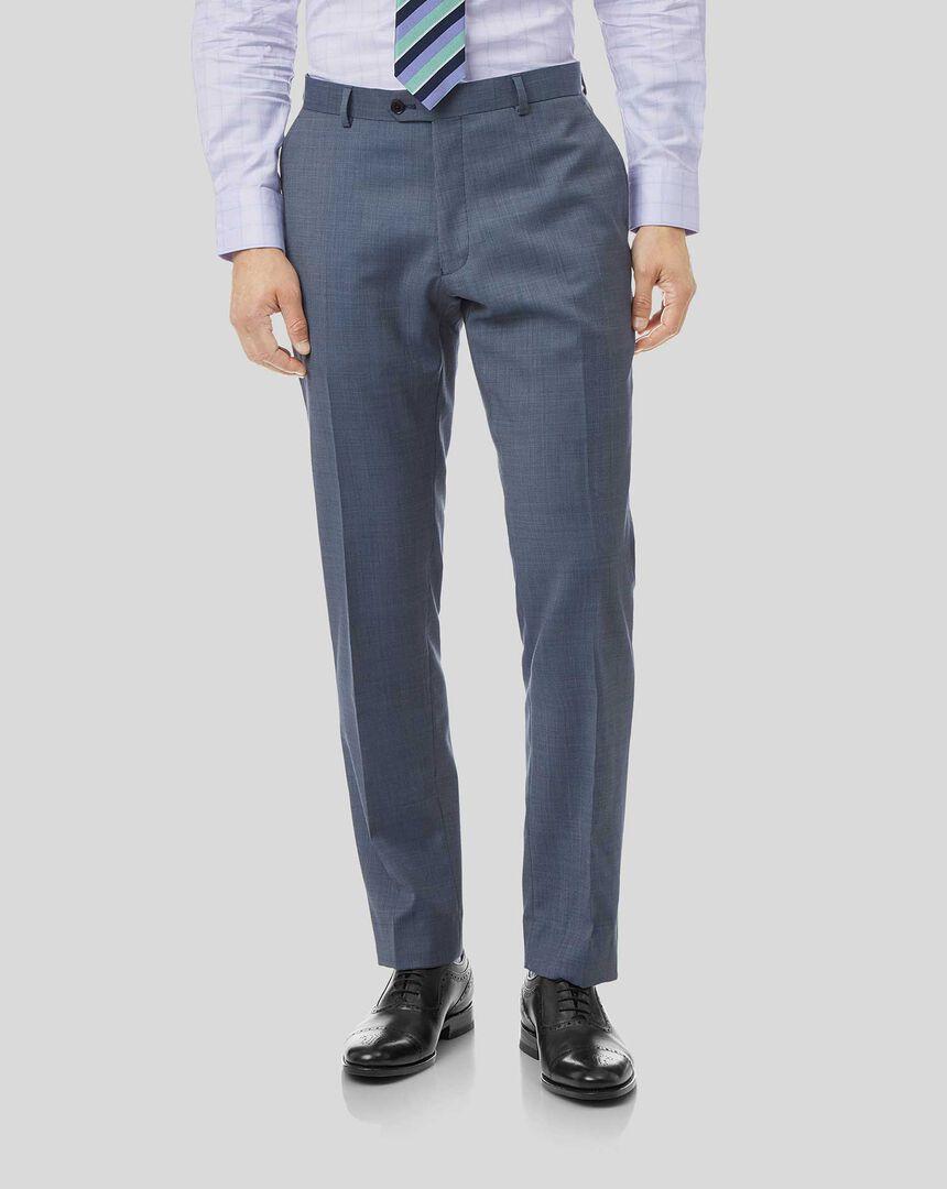Textured Suit Pants - Light Blue
