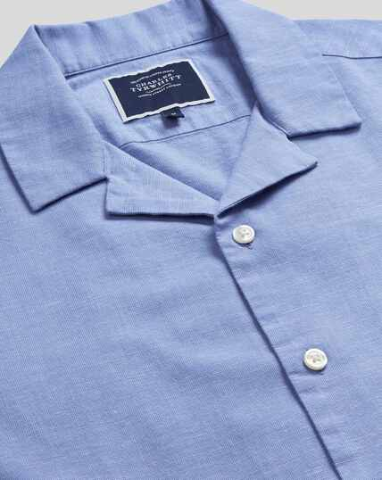 Short Sleeve Resort Shirt - Blue