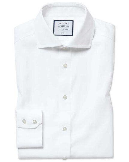 Slim fit non-iron white Oxford stretch shirt