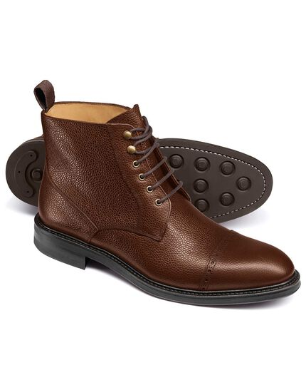 Brown Troswell toe cap boots