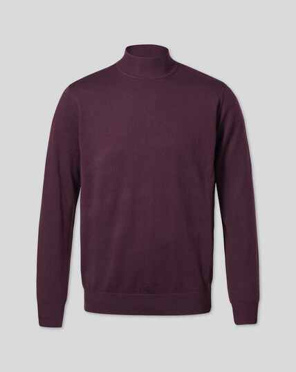 Wine turtle neck merino jumper