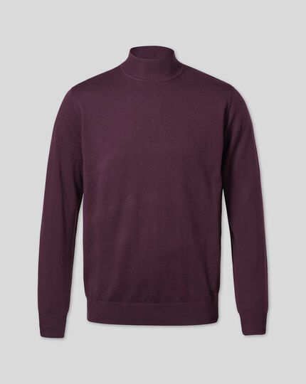 Wine turtle neck merino sweater