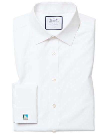 Classic fit white non-iron poplin shirt