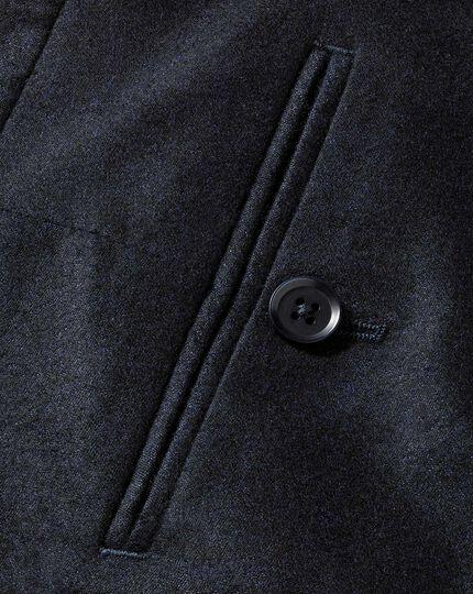 Dark navy slim fit Italian wool flannel trousers