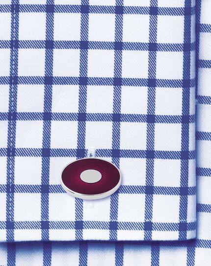 Berry gradient enamel oval cufflinks
