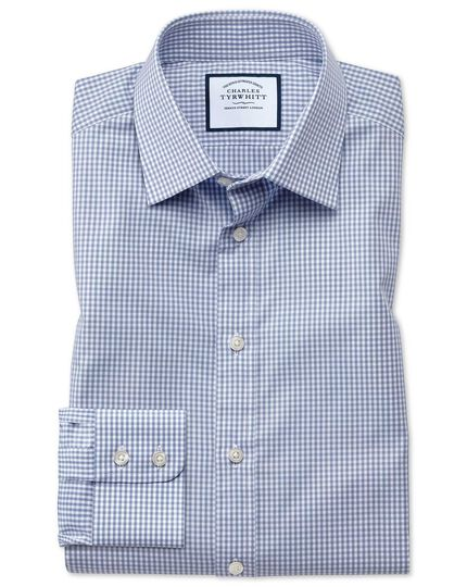 Slim fit small gingham grey shirt